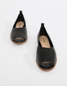 Кожаные летние туфли Aldo - Черный