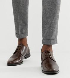 Коричневые кожаные туфли дерби для широкой стопы ASOS DESIGN - Коричневый