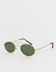 Овальные золотистые солнцезащитные очки Jeepers Peepers - Золотой