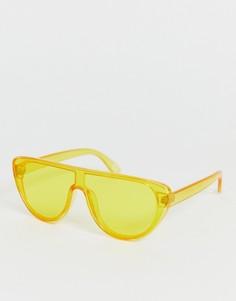 Желтые солнцезащитные очки-маска ASOS DESIGN - Желтый