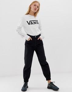 Свободные черные джинсовые брюки с эластичными манжетами ASOS DESIGN - Черный