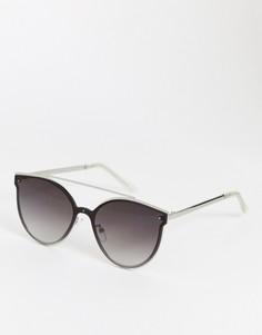 Солнцезащитные очки кошачий глаз Pieces Saga - Серебряный