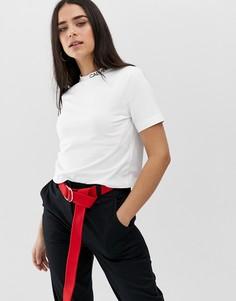 Укороченная футболка с логотипом Calvin Klein Jeans - Белый