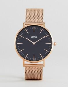 Золотисто-розовые часы-браслет CLUSE La Bohème CL18113 - Золотой