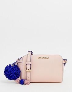 Маленькая розовая сумка через плечо Love Moschino - Розовый