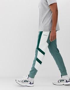 Зеленые джоггеры колор блок adidas Originals EQT - Зеленый