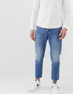 Голубые укороченные зауженные джинсы Jack & Jones - Синий
