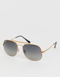 Солнцезащитные очки-авиаторы Ray-Ban 0RB3561 - Золотой