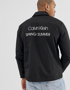 Черная спортивная нейлоновая куртка с логотипом Calvin Klein - Черный