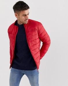 Красная дутая куртка Bershka - Красный