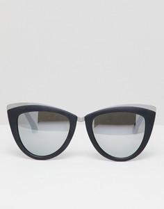 Солнцезащитные очки кошачий глаз в черной оправе Aldo - Черный