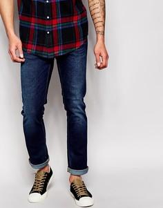 Стретчевая рубашка узкого кроя Nudie Jeans Grim Tim - Синий