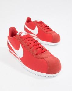 Красные кроссовки Nike Classic Cortez Nylon 807472-604 - Красный