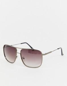 Черные солнцезащитные очки-авиаторы Jeepers Peepers - Черный