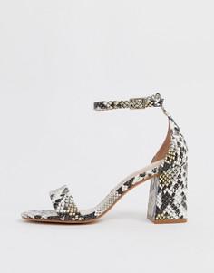 Босоножки на каблуке со змеиным принтом ALDO Eteisa - Мульти