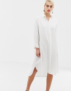 Платье-рубашка миди Selected Kea - Белый