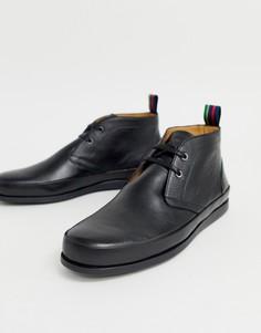 Черные высокие кожаные туфли дерби PS Paul Smith Cleon - Черный