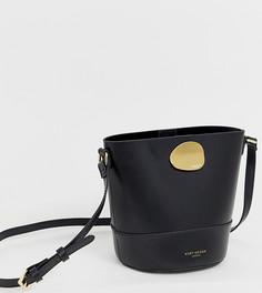 Черная кожаная сумка через плечо Kurt Geiger London Petal - Черный
