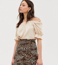 Блузка с пышными рукавами Glamorous Tall - Бежевый