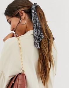 Черный платок для волос с принтом в стиле банданы ASOS DESIGN - Черный