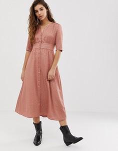 Платье миди на пуговицах BA&SH Gala - Розовый