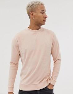 Розовый махровый свитшот ASOS DESIGN - Розовый