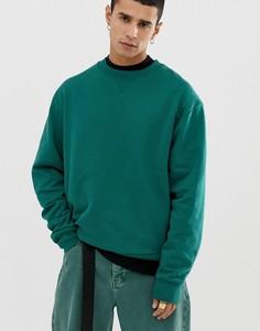 Темно-зеленый свитшот COLLUSION - Зеленый