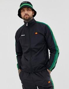Черная спортивная куртка от комплекта с полосками на рукавах ellesse Fiastra - Черный