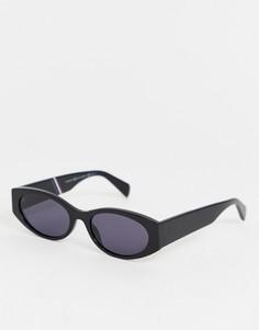 Черные овальные солнцезащитные очки Tommy Hilfiger - Черный