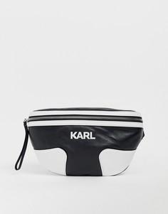 Сумка-кошелек на пояс с логотипом Karl Lagerfeld - Черный