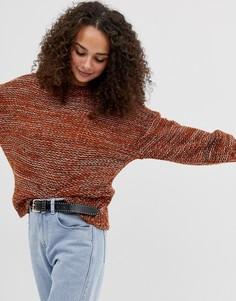 Вязаный джемпер с объемными рукавами Brave Soul - Оранжевый