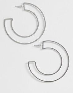 Серьги-кольца ASOS DESIGN - Серебряный