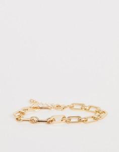Золотистый браслет-цепочка ASOS DESIGN - Золотой