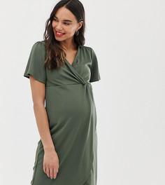 Платье миди с перекрученной отделкой для беременных Mamalicious - Темно-синий Mama.Licious