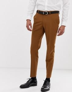Зауженные брюки золотистого цвета Burton Menswear - Золотой