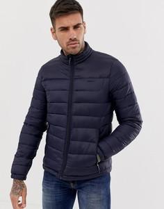 Темно-синяя дутая куртка Bershka - Темно-синий