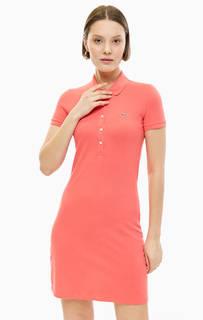 Платье из хлопка с отложным воротничком Lacoste