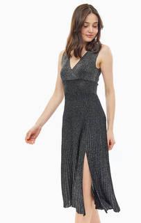 Платье из вискозы с расклешенной юбкой Liu Jo