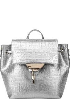 e8667fd2014a Серебристая сумка-рюкзак с тиснением Samantha Baldinini
