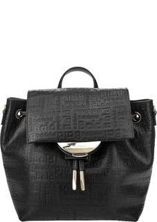 efa84bc0c1fc Черная сумка-рюкзак с тиснением Greta Baldinini