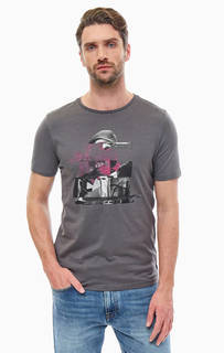 Хлопковая футболка с оригинальным принтом Jack & Jones