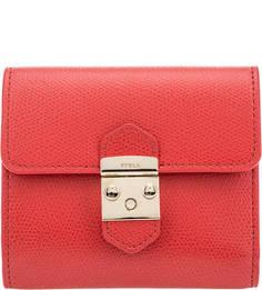 Кожаный кошелек красного цвета Metropolis Furla