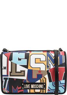 Разноцветная сумка с откидным клапаном Love Moschino