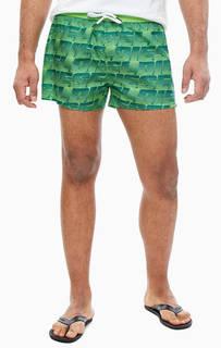 Купальные шорты зеленого цвета Diesel