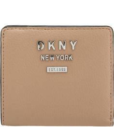 Портмоне из зерненой кожи с логотипом бренда Dkny