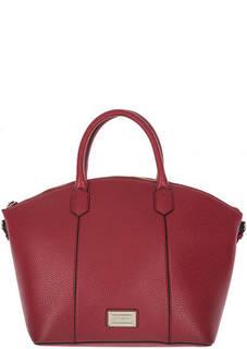 Вместительная сумка красного цвета на молнии Emporio Armani