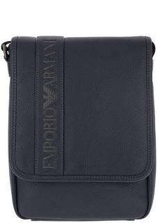 Синяя сумка с отделением для планшета Emporio Armani