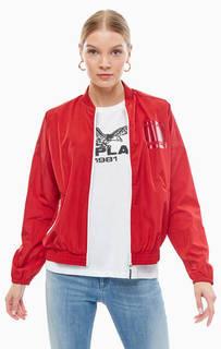 Красная ветровка на молнии с карманами Replay