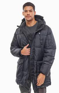 Удлиненная черная куртка с капюшоном G Star RAW
