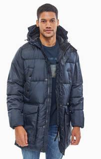Удлиненная темно-синяя куртка с капюшоном G Star RAW